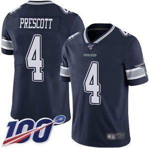 Cowboys Dak Prescott 100th Season Jersey 2